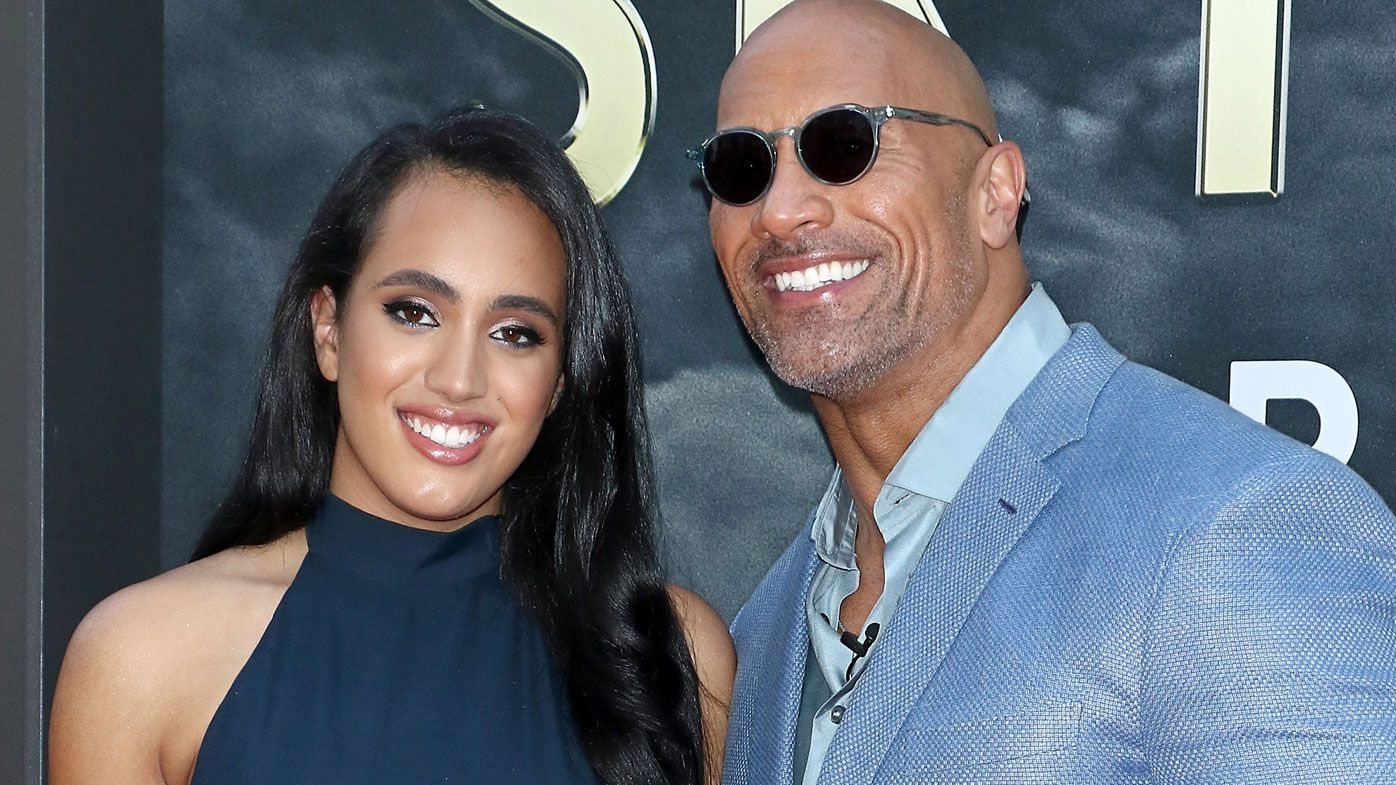 Dwayne Johnson and daughter, Simone