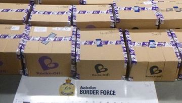 AFP intercepted 21 boxes in Melbourne.