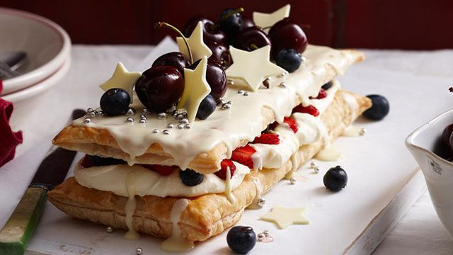 White chocolate mille feuille