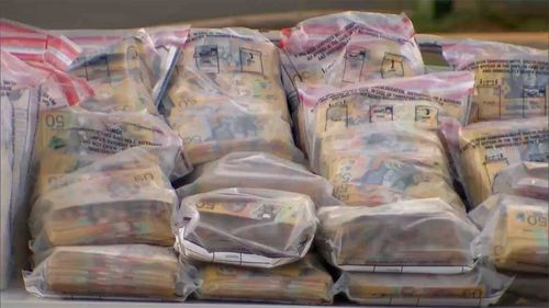 Millions in cash were found in two different trucks, WA police said.