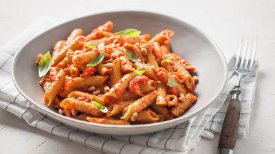 San Remo's creamy vegan capsicum pasta