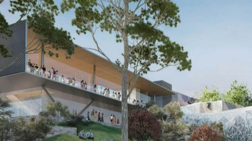 Modified plans for the Federation Square Apple store were unveiled in July.