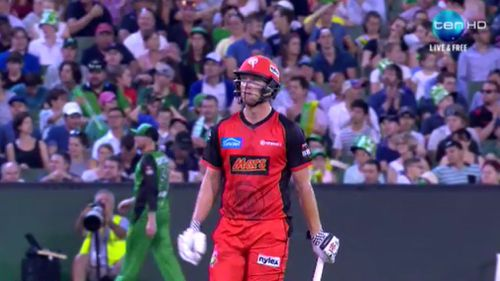 Cameron White during last night's match at the MCG. (Channel 10)