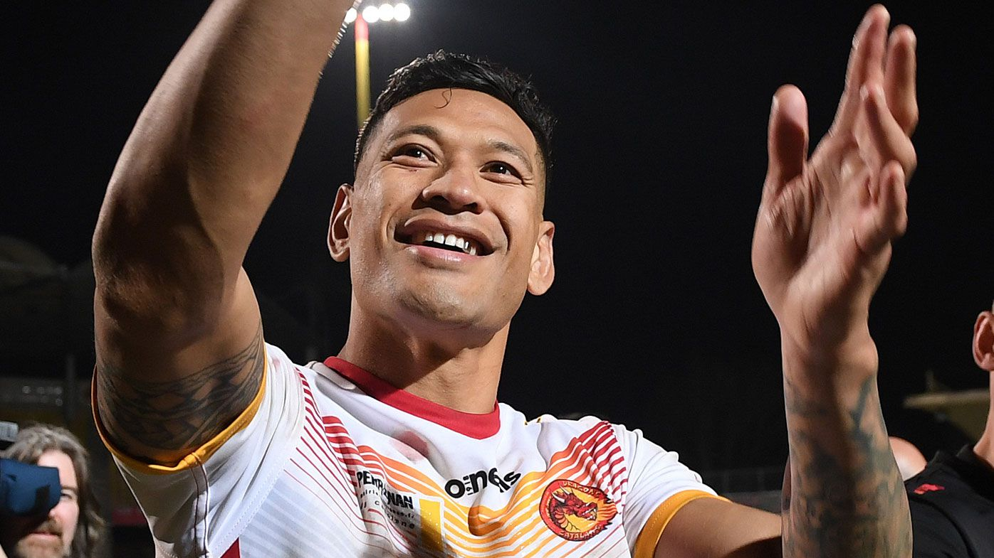 Israel Folau scores on Super League debut for Catalans Dragons in big victory