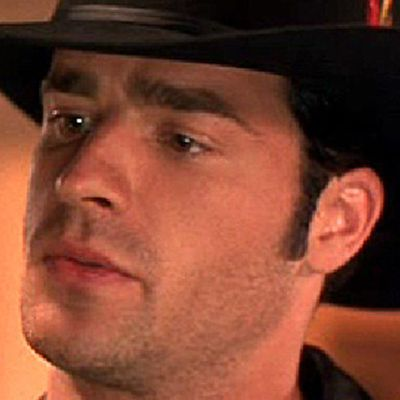 Justin Theroux as Clarence the Cowboy: Then
