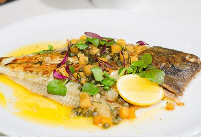 "Recipe: <a href=""http://kitchen.nine.com.au/2016/05/05/11/21/neil-martins-whole-flounder-grenobloise"" target=""_top"">Neil Martin's whole flounder grenobloise</a>"