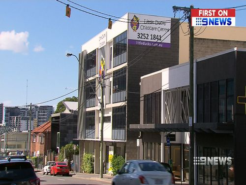The childcare centre is located on Brunswick Street in Brisbane's Fortitude Valley. (9NEWS)