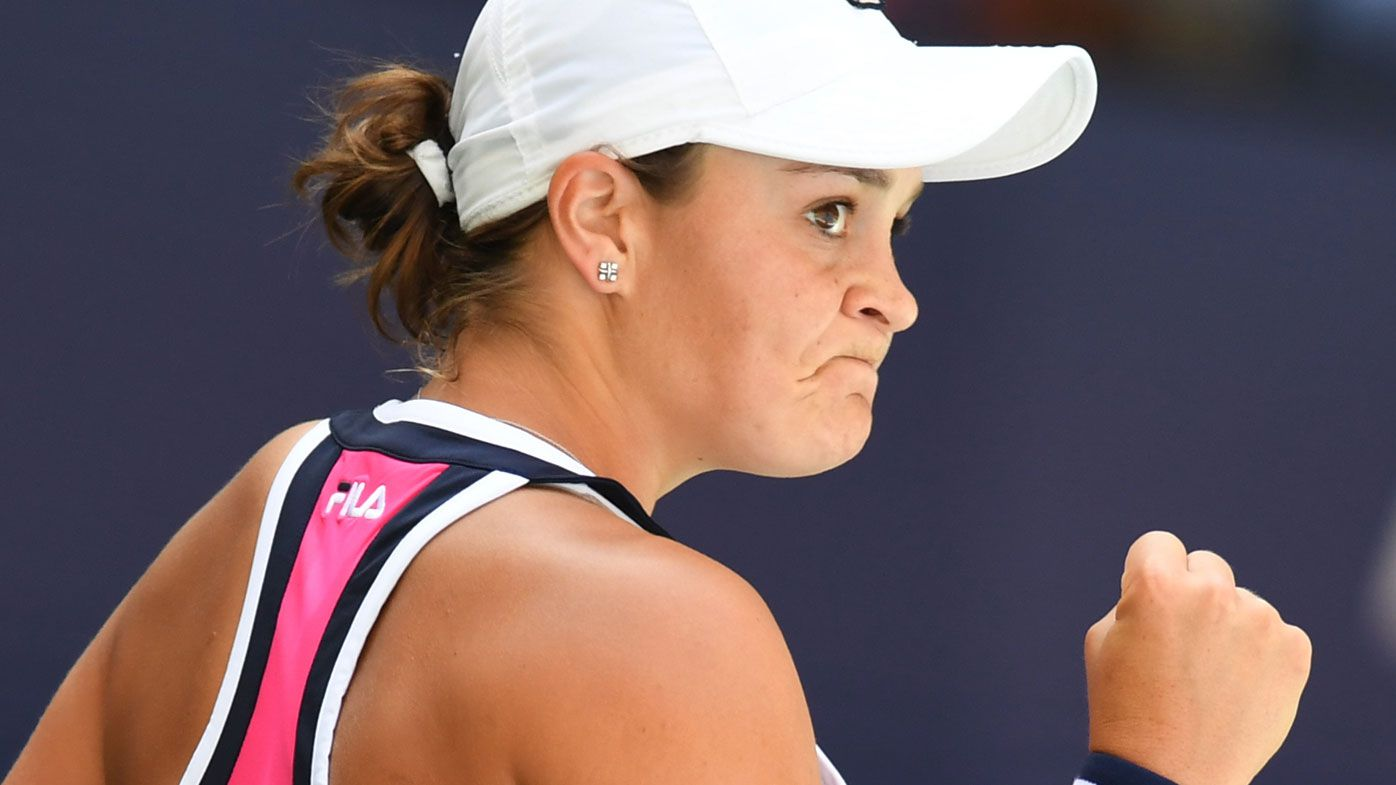 Ash Barty survives scare in US Open opener, Alex de Minaur also through