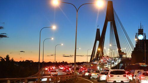 Motorcyclist dead after 'losing control' on Sydney's Anzac Bridge