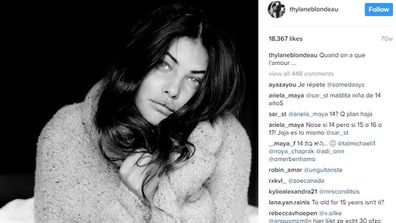 Thylane has over half a million Instagram followers