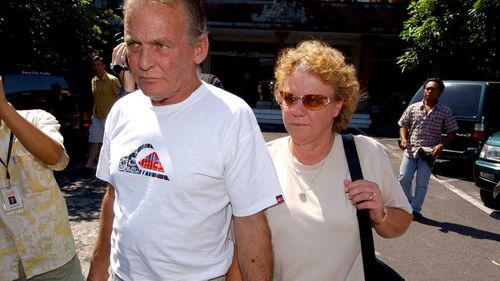 Lawrence's parents pictured after her arrest in 2005.