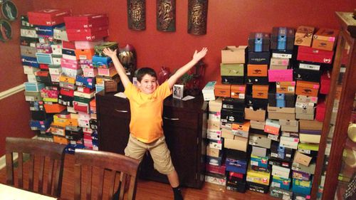 Birthday boy forgoes gifts in favour of shoes for kids in need
