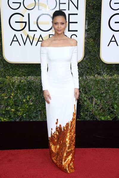 Thandie Newton in Monse at the 2017 Golden Globe Awards