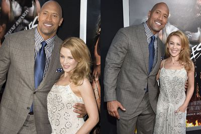 San Andreas co-stars Dwyane and Kylie posed for a few red carpet snaps...