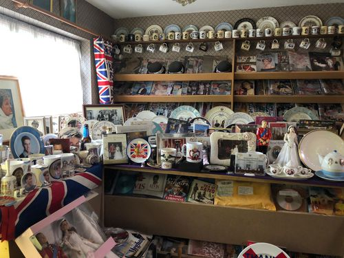 Mrs Tyler's collection includes hundreds of plates and cups.