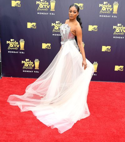 Actress Tiffany Haddish wearing Galia Lahav at the 2018 MTV Movie and TV Awards