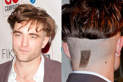 Did Robert Pattinson's new girlfriend FKA Twigs have something to do with his unfortunate new 'do? (Is that a reverse soul patch on the back?) Wonder what Kristen Stewart has to say about this?