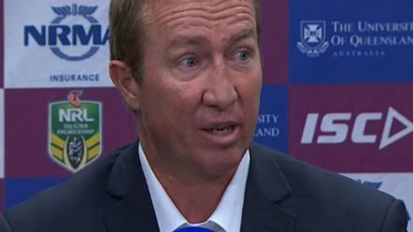 Roosters coach Trent Robinson