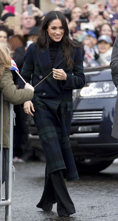 Meghan Markle visits Edinburgh Castle on February 13, 2018