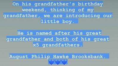Princess Eugenie revealed the meaning behind son August Brooksbank's name