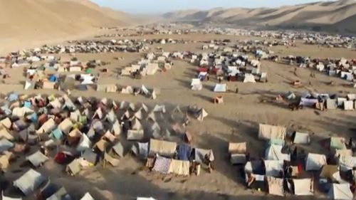 The UN estimates that over 275,000 people have been displaced by the drought, 84,000 of them in the city itself, and 182,000 in the region of Badghis.