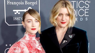 Saiorse Ronan and Greta Gerwig at the Critics Choice Awards.