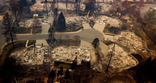The wildfire that destroyed the town of Paradise is now 40 percent contained.
