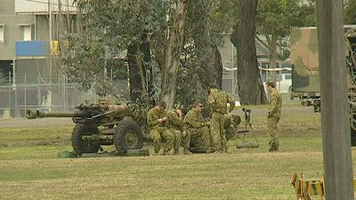 THE BIG GUNS: Specialist troops assigned to Holsworthy Barracks, including the elite 2 Commando Regiment, are trained in a range of counter-terrorism tactics. (9NEWS)