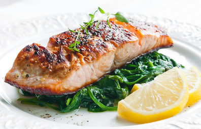 Low carb salmon healthy meal