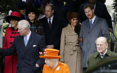 Harry and Meghan with royals