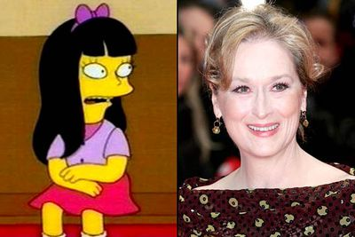 """<B>Appeared in:</B> 'Bart's Girlfriend' (1994), voicing the eponymous girlfriend. Meryl played the devious daughter of Reverend Lovejoy, Jessica, a young femme fatale who makes Bart's life hell when they start dating.<br/><br/><B>Best line:</B> """"Um, I have to go over here now."""""""