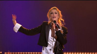 Delta Goodrem performs at the Logies