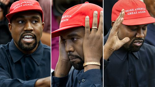 "During the 10-minute rambling address, West dropped the ""f-bomb"" and complained he had been pressured to stop wearing his red ""Make America Great Again"" hat."