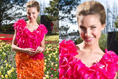 Rachael Finch poses for a portrait during the Floriade Launch in Canberra.