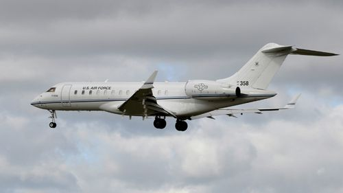 A US Air Force Bombardier E-11A Global Express plane at RAF Mildenhall, in the UK. According to media reports, US authorities have confirmed that a US military Bombardier E-11A has crashed in Afghanistan.