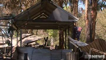 18 camper vans were destroyed in the blaze.