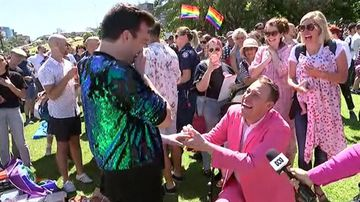 9RAW: Sydney man celebrates with proposal to boyfriend on live TV
