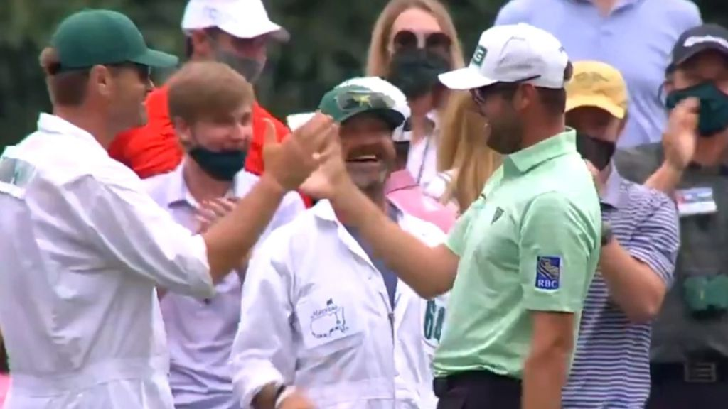 Canadian Corey Conners scores historic ace at Masters