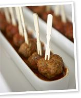 Spiced pork and veal meatballs with tomato and cinnamon ragu