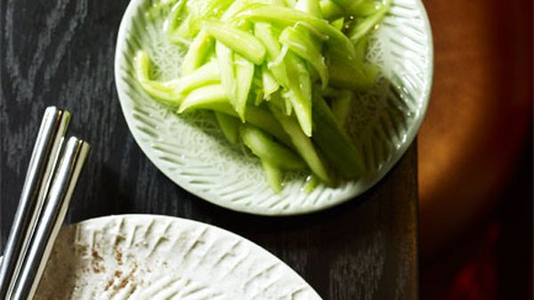 Neil Perry: Cucumber with smashed garlic