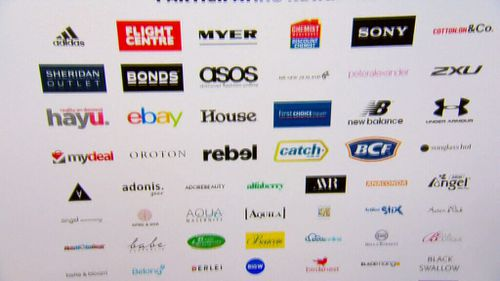 A sampling of the brands participating.