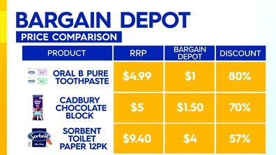 Bargain Depot Clearance offers discounted groceries.