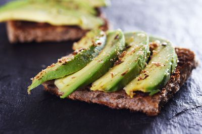 For avocado on toast (approx 118 calories/slice)