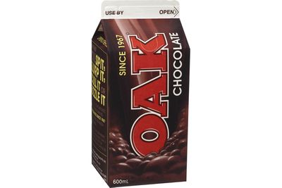 Oak chocolate milk (600ml): 63.6g sugar