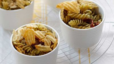 """Recipe: <a href=""""http://kitchen.nine.com.au/2016/05/13/12/36/pantry-pasta-bake"""" target=""""_top"""">Pantry pasta bake</a>"""