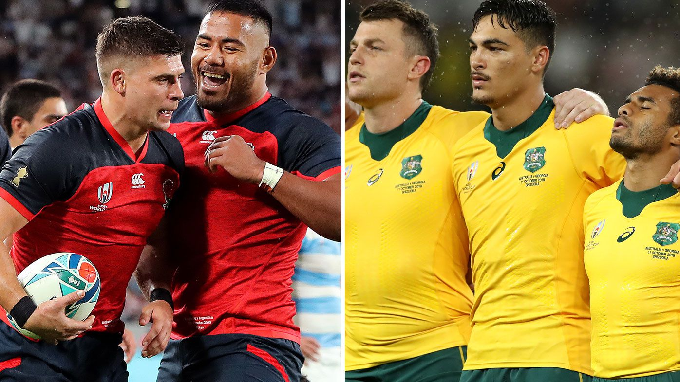 England clash with Australia in the QF of the Rugby World Cup