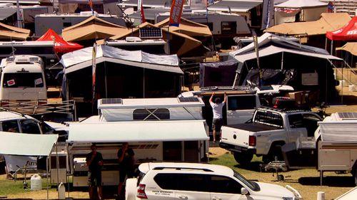 There are 620,000 caravans registered across Australia.
