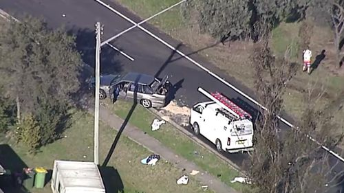 The Crash Investigation Unit is investigating the accident in South Penrith this morning. (9NEWS)