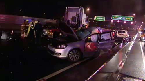 Motorists are urged to drive carefully in the wet conditions. (9NEWS)