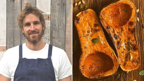 Darren Robertson whole roasted butternut pumpkin